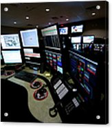 Control Room Center For Emergency Acrylic Print