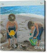 Cool Water Warm Sand Acrylic Print