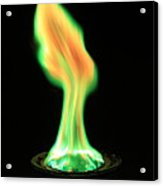 Copperii Chloride Flame Test Acrylic Print