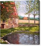 Country Life Acrylic Print by Stefon Marc Brown