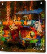 Country Pumpkin Fun Acrylic Print