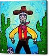 Cowboy Dia De Los Muertos Acrylic Print