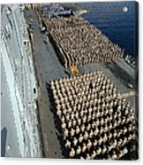 Crew Aboard The Amphibious Assault Ship Acrylic Print