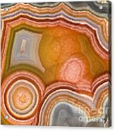 Cross-section Of Mexican Agate Acrylic Print