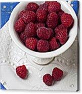 Cup Full Of Raspberries Acrylic Print