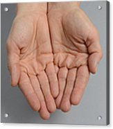 Cupped Hands Acrylic Print