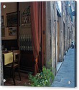 Curtains Billow In The Gentle Tuscan Acrylic Print