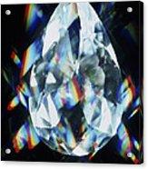 Cut And Polished Diamond Acrylic Print