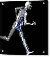 Cyborg Running Acrylic Print