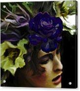 Dark Wood Nymph Acrylic Print by Jill Balsam
