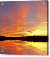 Dawn Jackson Hole Lake Acrylic Print