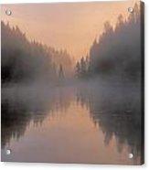 Dawn On The Yellowstone River Acrylic Print