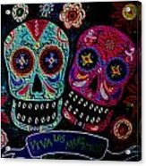 Day Of The Dead Couple Acrylic Print