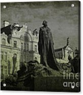 Death In Prague Acrylic Print by Lee Dos Santos