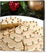 Decorated Cookies In Festive Setting Acrylic Print
