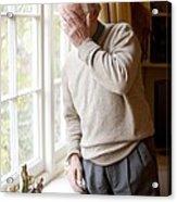 Depressed Senior Man Acrylic Print