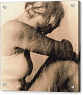 Depressed Woman Acrylic Print