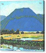 Derr Mountain Acrylic Print by Robert Bissett