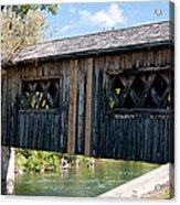 deShutes River Bridge Acrylic Print