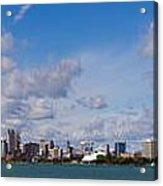 Detroit Michigan Skyline Acrylic Print