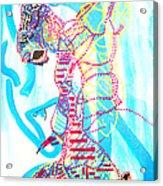 Dinka Angel Bride - South Sudan Acrylic Print