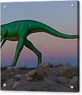 Dinosaur Loose On Route 66 Acrylic Print