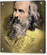 Dmitri Mendeleev, Russian Chemist Acrylic Print