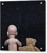 Doll And Bear Acrylic Print
