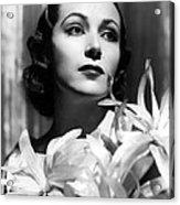 Dolores Del Rio, Portrait Ca. 1934 Acrylic Print