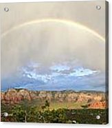 Double Rainbow Over Sedona Acrylic Print