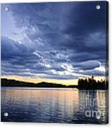Dramatic Sunset At Lake Acrylic Print