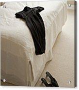 Dress Lying On Bed Acrylic Print
