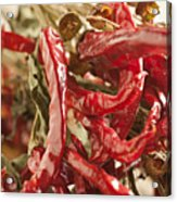 Dried Chili Peppers Acrylic Print