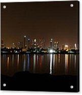 Dubai By Night Acrylic Print