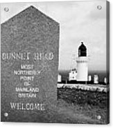 Dunnet Head Most Northerly Point Of Mainland Britain Scotland Uk Acrylic Print by Joe Fox
