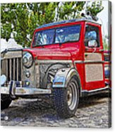 Dusty Pick-up Hot Rod Acrylic Print