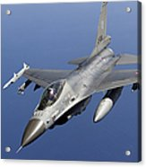 Dutch F-16am During A Combat Air Patrol Acrylic Print