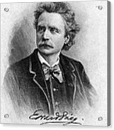 Edvard Grieg (1843-1907) Acrylic Print