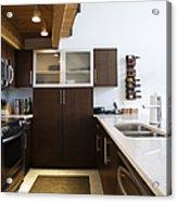 Efficiency Apartment Kitchen Acrylic Print by Ben Sandall
