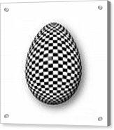 Egg Checkered Acrylic Print