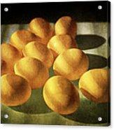 Eggs Lit Through Venetian Blinds Acrylic Print