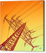 Electricity Power Lines Acrylic Print