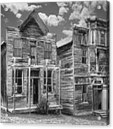 Elkhorn Ghost Town Public Halls - Montana Acrylic Print