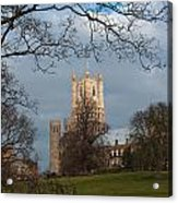 Ely Cathedral In City Of Ely Acrylic Print