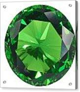 Emerald Isolated Acrylic Print