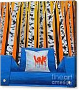 Empty Blue Chair Acrylic Print by Holly Donohoe