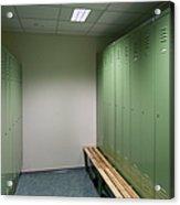 Empty Locker Room Acrylic Print by Jaak Nilson