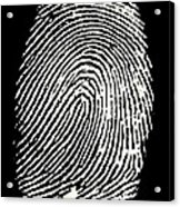 Enlarged Fingerprint Acrylic Print