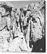 Eroded Sandstone Cliffs Acrylic Print