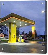 Estonian Gas Station At Night Acrylic Print